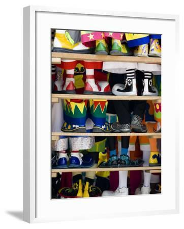 Group Photo of Clowns' Shoes at a Week Long Latin American Clown Convention in Mexico City--Framed Photographic Print
