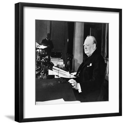 Winston Churchill--Framed Photographic Print