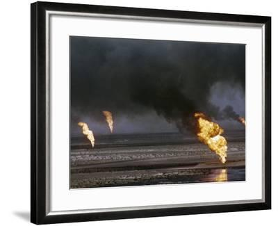 Kuwait Oil Fire--Framed Photographic Print