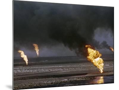 Kuwait Oil Fire--Mounted Photographic Print