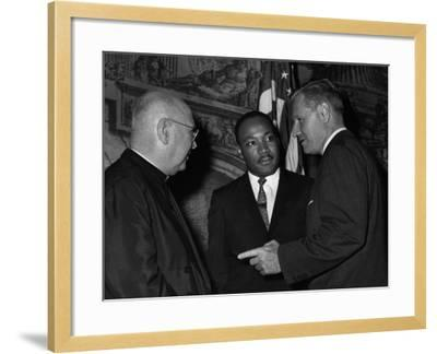 MLK Spellman Rockefeller 1962-Associated Press-Framed Photographic Print