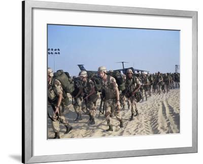 Members of 82nd Airborne-Pool-Framed Photographic Print