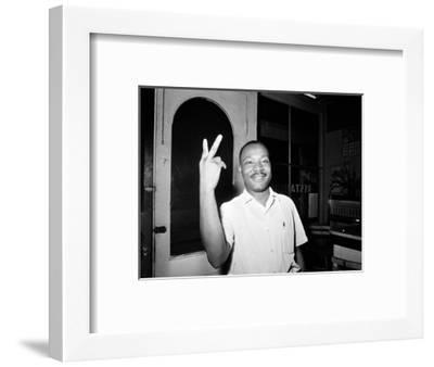 MLK St Augustine Boycott 1964--Framed Photographic Print