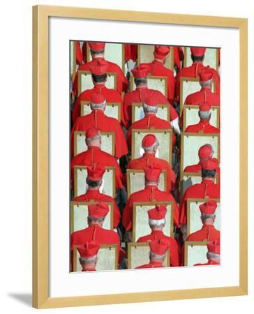 Old Cardinals are Seen During the Concistory--Framed Photographic Print