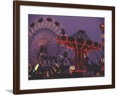 The Popular Midway Section of the New York State Fair-Michael Okoniewski-Framed Photographic Print