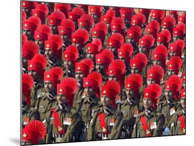 Security Personnel March at the Republic Day Parade in New Delhi, India, Friday, January 26, 2007-Mustafa Quraishi-Mounted Photographic Print