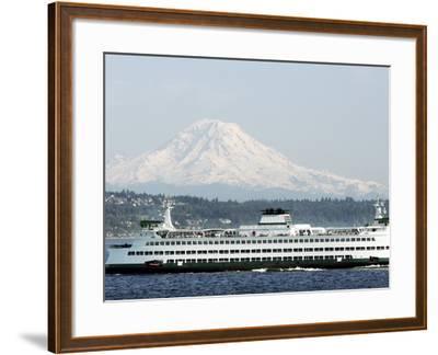 Mount Rainier-Ted S^ Warren-Framed Photographic Print