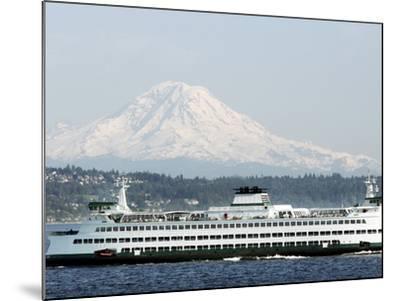 Mount Rainier-Ted S^ Warren-Mounted Photographic Print