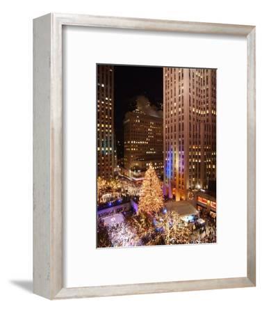 Rockefeller Tree Lighting-Frank Franklin II-Framed Photographic Print