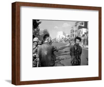 Vietnam War Saigon Execution-Eddie Adams-Framed Photographic Print