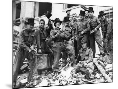 WWII London Rescue Workers- Uncredited-Mounted Photographic Print