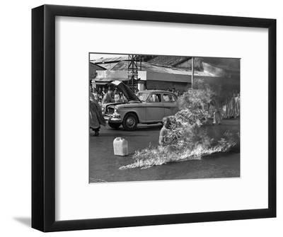 Vietnam Monk Protest-Malcolm Browne-Framed Photographic Print