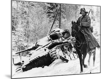 WWII Red Army Cavalry Rider--Mounted Photographic Print