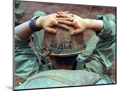 Peace Helmet-Associated Press-Mounted Photographic Print