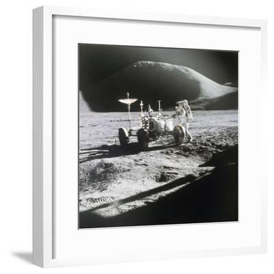 Apollo 15 Moonwalk 1971--Framed Photographic Print