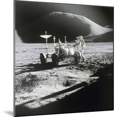 Apollo 15 Moonwalk 1971--Mounted Photographic Print
