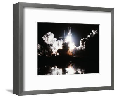 Challenger Liftoff 1983--Framed Photographic Print
