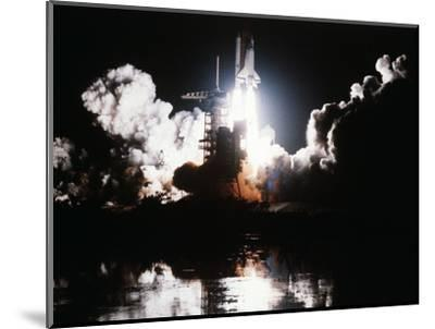 Challenger Liftoff 1983--Mounted Photographic Print
