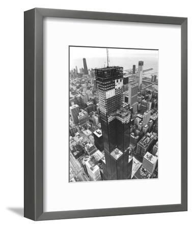 Chicago Sears Tower Topping--Framed Photographic Print