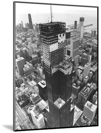 Chicago Sears Tower Topping--Mounted Photographic Print