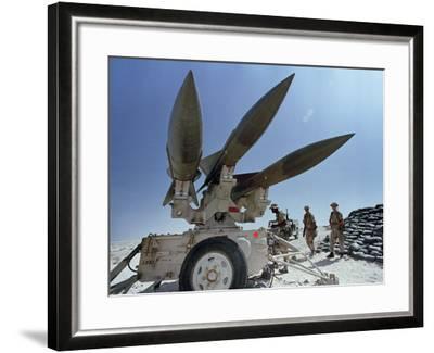 U.S. Hawk Anti-Air Craft Missiles- Endicher-Framed Photographic Print