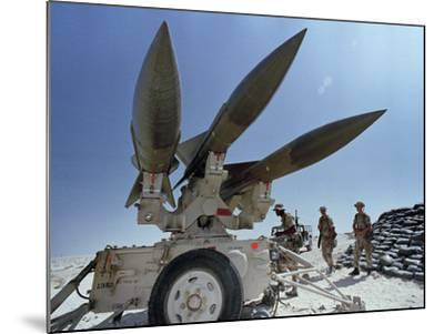 U.S. Hawk Anti-Air Craft Missiles- Endicher-Mounted Photographic Print