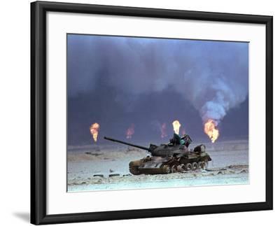 Gulf War Iraqi Tank-David Longstreath-Framed Photographic Print