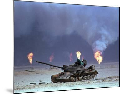 Gulf War Iraqi Tank-David Longstreath-Mounted Photographic Print