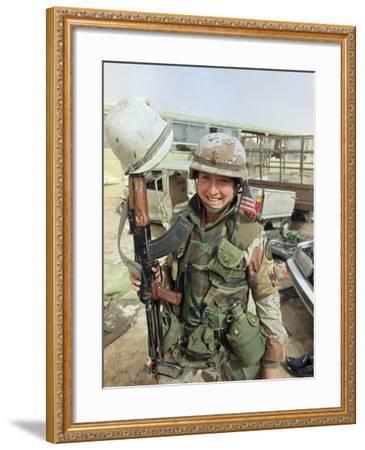 Saudi Arabia Army U.S. Troops Women Tanya Brinkley-David Longstreath-Framed Photographic Print