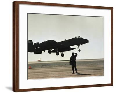 Saudi Arabia Army U.S. Forces A10 Warthog Attack Plane Kuwait Crisis--Framed Photographic Print