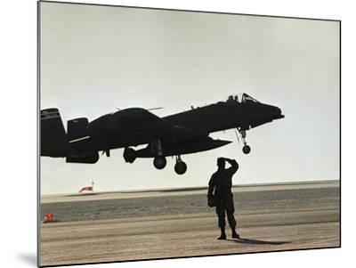 Saudi Arabia Army U.S. Forces A10 Warthog Attack Plane Kuwait Crisis--Mounted Photographic Print
