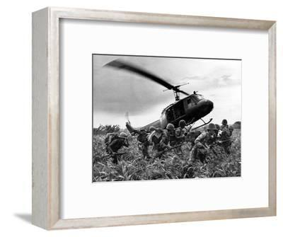 Vietnam War U.S. Army Helicopter-Nick Ut-Framed Photographic Print
