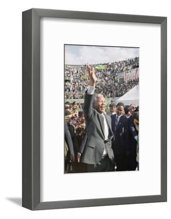 Nelson Mandela in Japan-Itsuo Inouye-Framed Photographic Print