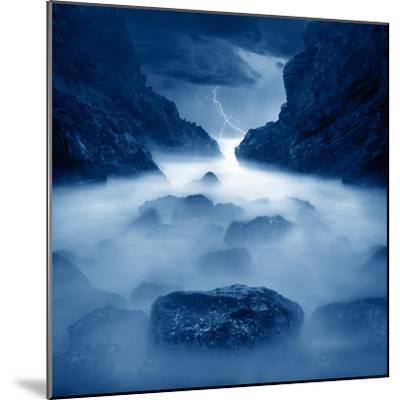 Tormenta en ixtapa Blue-Moises Levy-Mounted Photographic Print