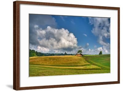Hay Field-Bob Rouse-Framed Photographic Print