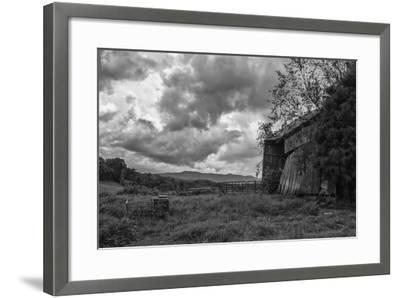Mayberry Barn 2 BW-Bob Rouse-Framed Photographic Print