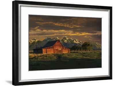 Moulton Barn Sunrise-Galloimages Online-Framed Photographic Print