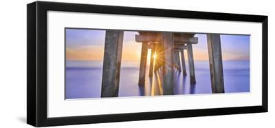 Naples Pier Panoramic II-Moises Levy-Framed Photographic Print