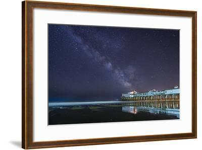 Pier in the Stars-Michael Blanchette-Framed Photographic Print