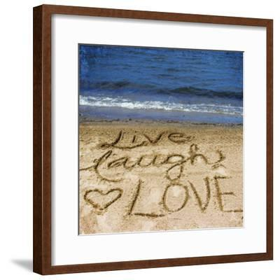 Live Laugh Love in the Sand-Kimberly Glover-Framed Photographic Print