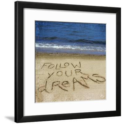 Follow Your Dreams in the Sand-Kimberly Glover-Framed Photographic Print