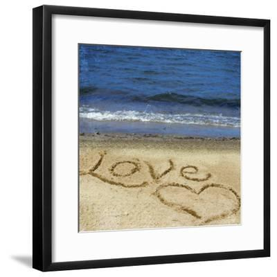 Love in the Sand-Kimberly Glover-Framed Photographic Print