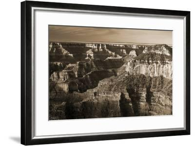 Sepia Grand Canyon 1-Gordon Semmens-Framed Photographic Print