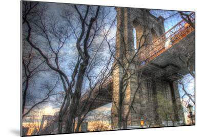 Brooklyn Bridge Early Spring-Robert Goldwitz-Mounted Photographic Print