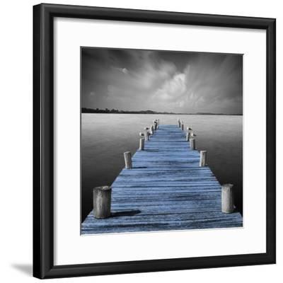 Tierra Desnuda - Pop Blue-Moises Levy-Framed Photographic Print