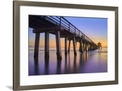 Naples Pier Panoramic III-Moises Levy-Framed Photographic Print