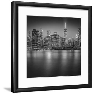 Manhattan Skyline Night-Edit-3-Moises Levy-Framed Photographic Print