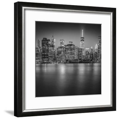 Manhattan Skyline Night-Edit-3-Moises Levy-Framed Photographic Print