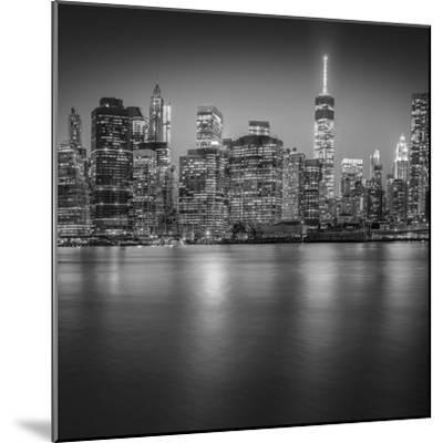Manhattan Skyline Night-Edit-3-Moises Levy-Mounted Photographic Print