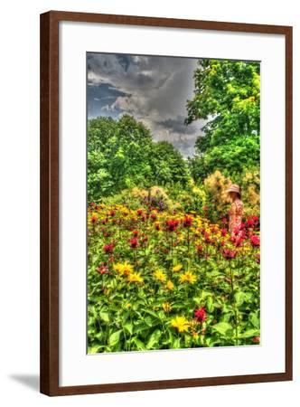 Model Release Garden Vertical-Robert Goldwitz-Framed Photographic Print